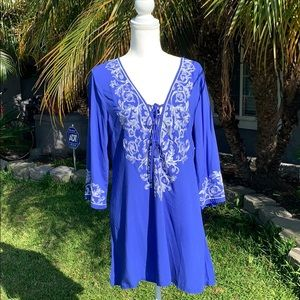 NWT Arden B. Royal Blue Hobo Dress